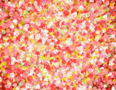 many red small hearts backgrounds. love texture - stock illustration