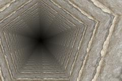 Way of deep hole in a coal mine Stock Illustration