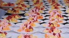 Restaurant healthy food Stock Footage