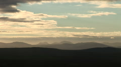 Timelapse over welsh mountains clouds forming timelapse Stock Footage