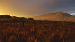 Argentina Sunset - rio Chubut 03 Stock Footage
