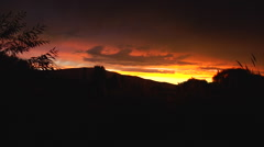 Argentina Fiery Sunset - Chubut 09 Stock Footage