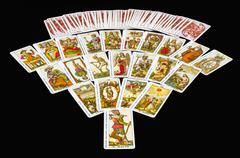 22 major arcana tarot - stock photo