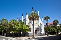Huguenot church in charleston Stock Photos