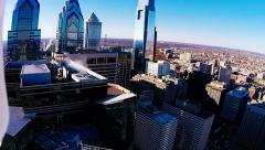 360 Aerial View of Downtown Philadelphia Stock Footage