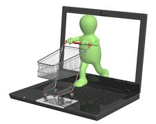 Stock Photo of Virtual shopping