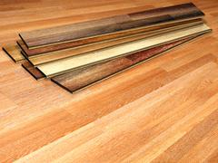New oak parquet - stock photo