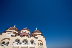 Agios Charalampos church - stock photo