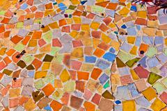 mosaic with tiles gives a beautiful colorful pattern - stock photo