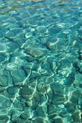 The aegean sea and rocks - stock photo