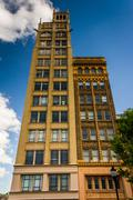 the jackson building in downtown asheville, north carolina. - stock photo