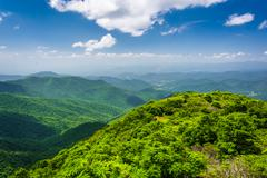 View of the appalachian mountains from craggy pinnacle, on the blue ridge par Stock Photos