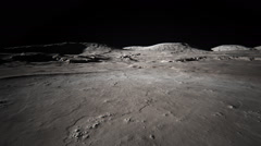 Moon Surface. Landing Lunar Explore Astronomy Stock Footage