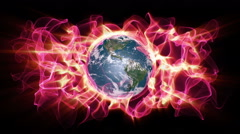 Global Warming Earth Aura 006 - HD Stock Footage