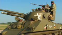 Tank and Jeep Pass By Stock Footage