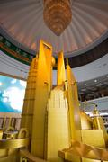 Enormous scale model of the future Shangha - stock photo