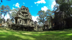 Time lapse of Thommanon Hindu Temple in Angkor area. Cambodia. 4K Stock Footage