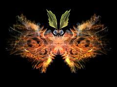 Digital Butterfly Stock Illustration