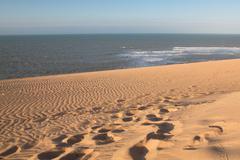 View of the Colombian coastline in La Guajira Stock Photos