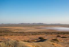 Wide deserted beach in La Guajira, Colombia Stock Photos