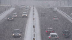 Snow Cyclone in the City Stock Footage