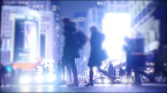 people walking in the city. urban lifestyle background. pedestrians walkers - stock footage