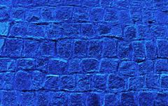 Blue granite cubes Stock Photos