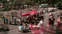 Timelapse Pan of Crowds in New Orleans' Jackson Square Stock Footage