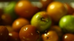 Closeup of Fruits Stock Footage