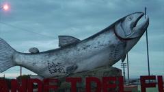 RIO Grande Tierra Del Fuego - LA Town 01 Stock Footage