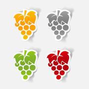 Stock Illustration of realistic design element: grapes
