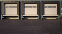 Forklift Truck Placing Cardboard Boxes Stock Footage