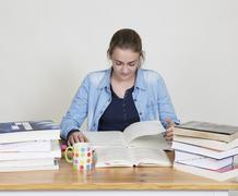 student learns - stock photo
