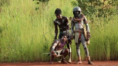 Africa tribe people Stock Footage