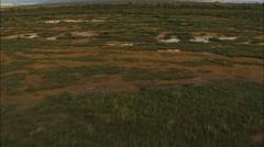 Aerial Alaska USA Mountains melt water hiking nature - stock footage