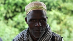 Africa village Mampata old man Guinea Bisseau close up Stock Footage