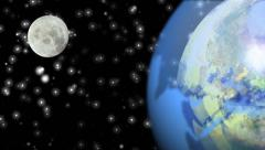 Planet Earth and Moon. Image Moon has been found thanks to NASA. Stock Footage