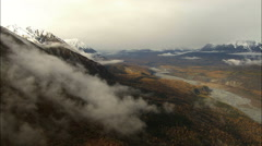 Aerial Alaska USA Peak Mountains delta National Park - stock footage