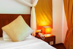 Hotel room at maldives Stock Photos