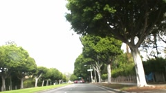 Driving in Beverly Hills Burr Shot Stock Footage