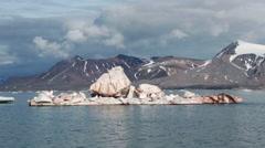Iceberg in Svalbard Islands, north atlantic Stock Footage