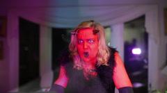 Soul sucking woman devil lady Stock Footage