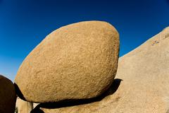 scenic washed out jumbo rocks in the national park - stock photo