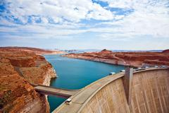Glen canyon dam in page is delivering power for the whole area Stock Photos