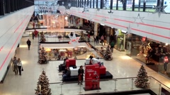 Shopping center interior Stock Footage