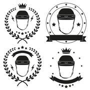 Stock Illustration of Set of Vintage Motor Club Badge and Label