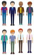 Faceless men - stock illustration