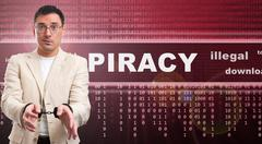 Illegal piracy download concept Stock Photos