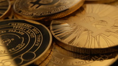 Bitcoins flyover 30P Stock Footage
