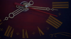Closeup of vintage clock face ticking - stock footage